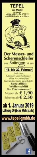 Solinger Messerschleifer ist vom 18.-20. Februar bei uns
