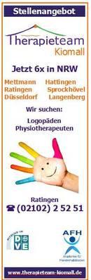 NEUERÖFFNUNG in Velbert-Langenberg - Wir suchen Logopäden