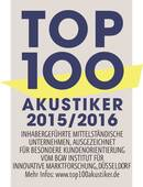 Hörgeräte Kraus ist Top 100 Akustiker 2015/2016