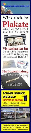 PLAKATE ab 9,90€ und bis A0 sofort - Visitenkarten ab 18,00€