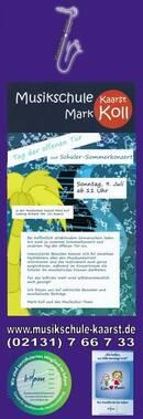 Sonntag 9. Juli Tag der offenen Tür & Schüler-Sommerkonzert