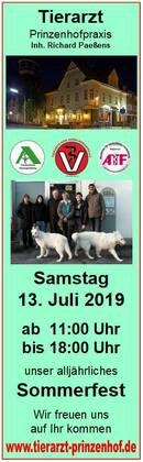 Sommerfest Samstag 13.07. ab 11:00 Uhr Prinzenhof