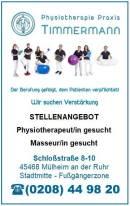 STELLENANGEBOT: Physiotherapeut/in und Masseur/in gesucht